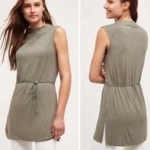 Dolan Left Coast Fina Tie Tunic in Olive Green